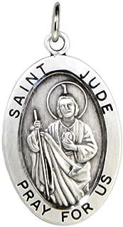Heartland Men's St. Jude Sterling Silver Oval Pendant