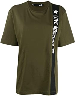 Luxury Fashion | Love Moschino Womens W4F8723M3517Q19 Green T-Shirt | Autumn-Winter 19