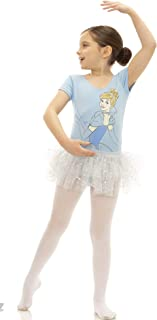 Disney Princess Girls' Ballet Frozen Belle Cinderella Leotard Tutu Dress