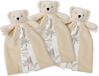 Vermont Teddy Bear Baby Lovey Napping Blanket Set, Set of 3, 11'' x 14''