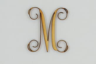 1 Pc, 5 Inch X 1/8 Inch Thick Wood Letters M In The Vine Font Great For Craft Project & Different Decor