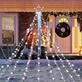 (2021 Upgraded) Christmas Tree Star String Lights Decorations Outdoor with 335 LED 8 Lighting Modes Waterproof for Christmas Waterfall Christmas Lights Outdoor Garden Yard Patio Xmas Décor