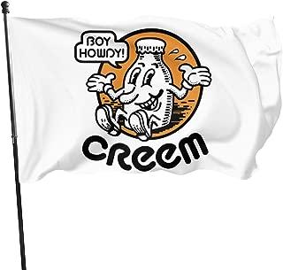 Paoseven Boy Howdy! CREEM mag Decorative Garden Flags, Outdoor Artificial Flag For Home, Garden Yard Decorations 3x5 Ft