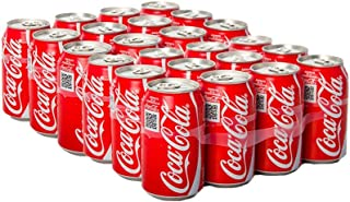Coca-Cola Regular Carbonated Soft Drink, Cans - 330ml (Pack of 24)