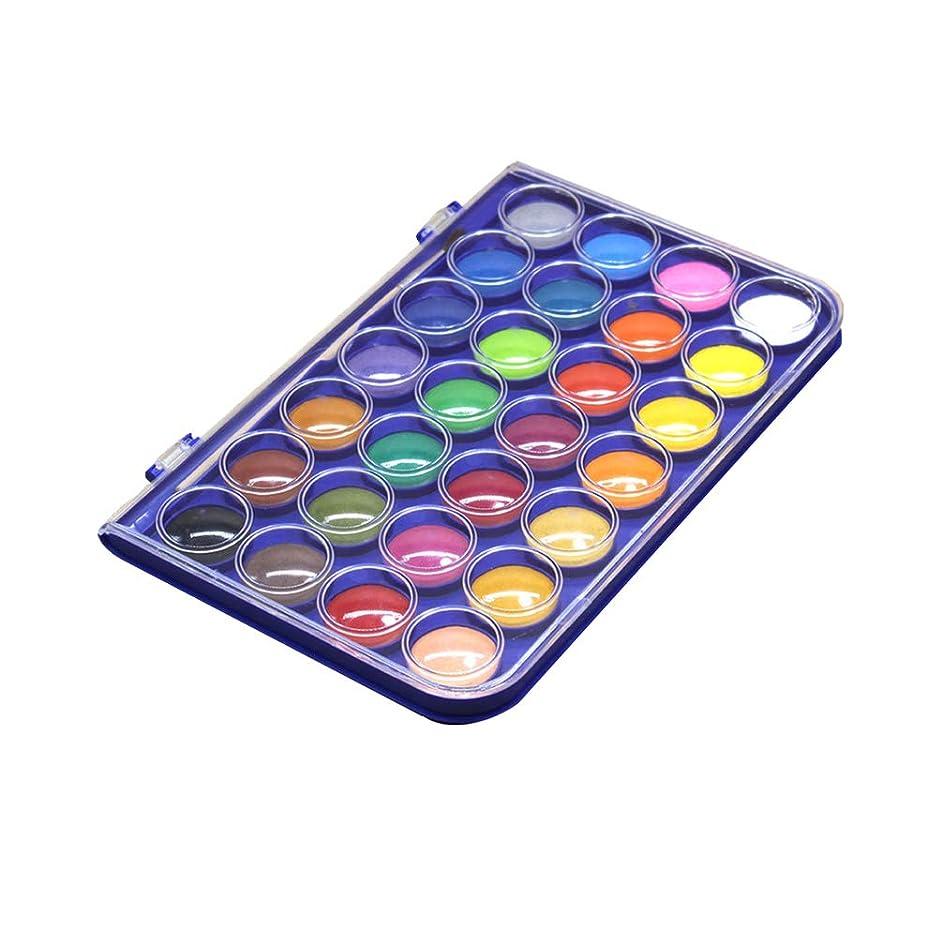 スクリューもつれ溶接Healifty 子供の大人の芸術家の学生の教室のパーティーのためのペイントブラシで設定された28色の子供の水彩絵の具