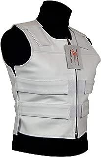 White Leather - Ladies Bulletproof Style Motorcycle Vest (S)