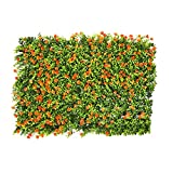 mooderf Artificial Hedge Flower Garden,Artificial Boxwood Hedges Panels,Artificial Leaf Screening Roll UV Fade Protected Privacy Hedging Wall Landscaping Garden Fence Balcony Screen 60x40 Cm