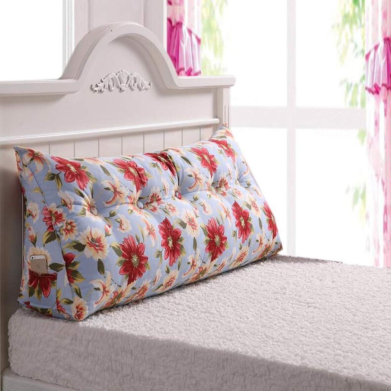 Coussin de tête de lit de lit Coussin de Sac Souple Coussin Grand Dos Coussin Lavable Amovible Coussin Lombaire Coussin de Dossier JSSFQK (Couleur   A, Taille   100  25  50cm)