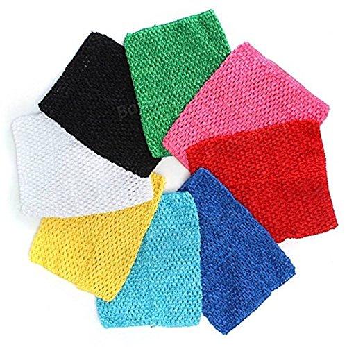 Saver 9 inch Children Girls Crochet Tube Top Elastic Waistband Head Hairband DIY Girls Tutu Fluffy Skirt Wrap Chest