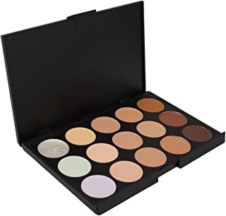Pure Vie 15 Colors Cosmetics Cream Contour and Highlighting Makeup Kit #1 - Contouring Foundation/Concealer Palette Highlighter Correctors