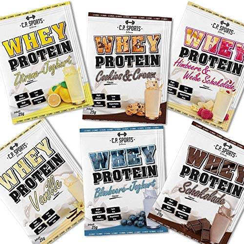 ISO WHEY ZERO MAXIMAL REINES MOLKENPROTEIN-PULVER, 6 x 25 g Protein Pulver Testpaket von C.P. Sports (6 x 25g Tüten C.P. Sports Whey)