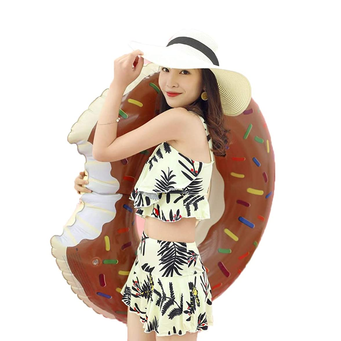 全国うぬぼれたお気に入り浮輪 浮き輪,大人の子供プールビーチに適したインフレータブルドーナツチューブプールフローティングマルチサイズフローティングおもちゃ