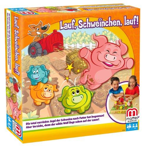 Mattel Y2552 - Lauf, Schweinchen, lauf, Strategiespiel für Kinder