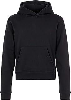 Mädchen Kapuzen Sweatshirt,hellgrau meliert//Druck,leichte Qualität,Gr 140//146