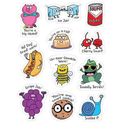 Creative Teaching Press So Much Pun! Punny Rewards Stickers (55 Stickers Per Pack)