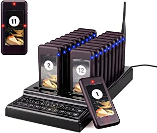 Retekess T-111 Pagers Restaurant Paging System Restaurant Buzzer System Updated Version 1 Keypad Caller 20 Restaurant Buzzers Beepers for Restaurants