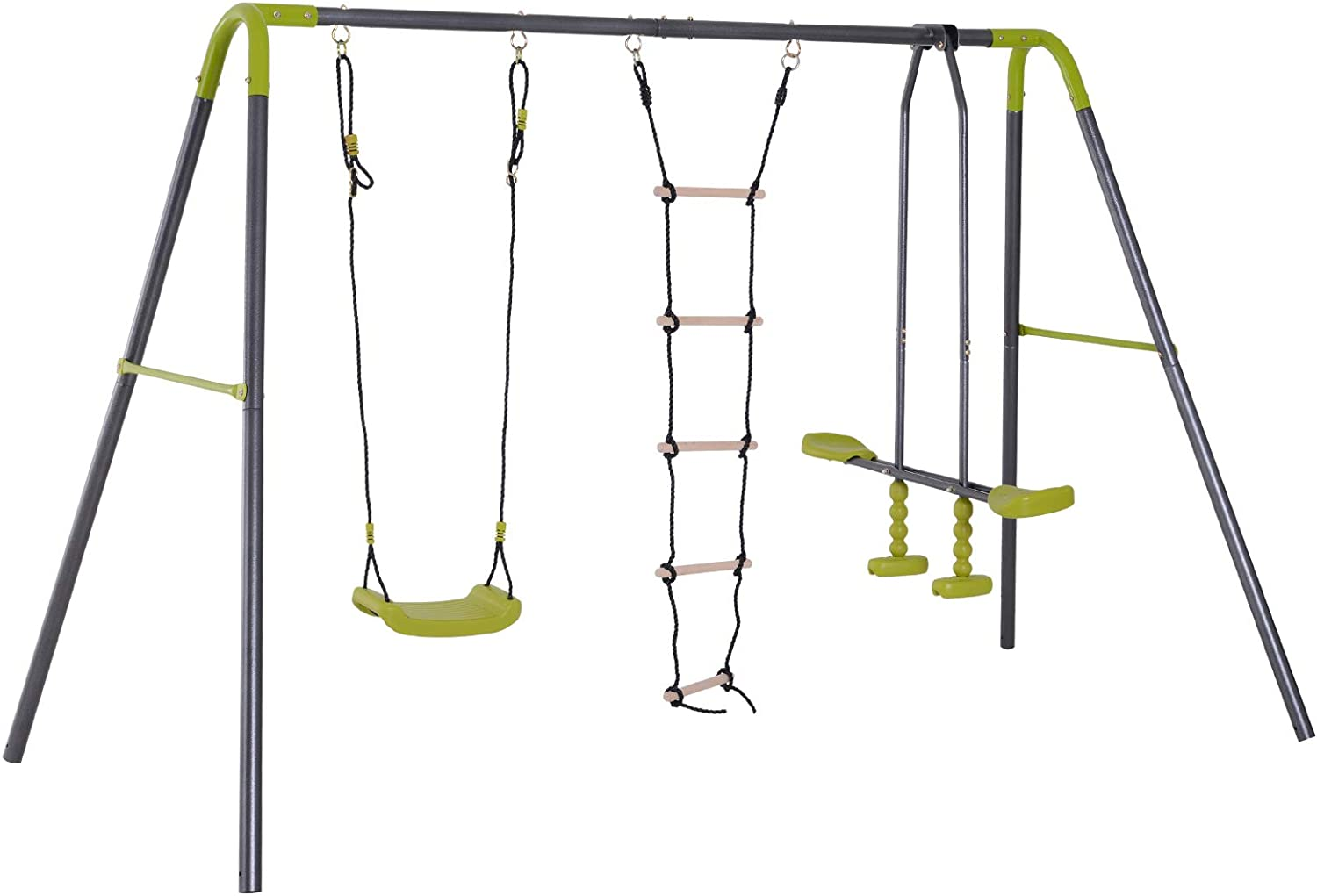 HOMCOM 3 in 1 Ultra-Cheap Deals Kid Swing Set Face Chair G Selling Double to
