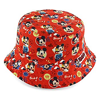 Disney Mickey Mouse Boys  Red Bucket Hat [6014]