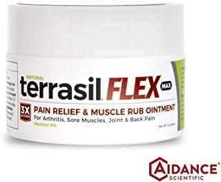 Terrasil Flex Max Pain Relief & Muscle Rub Ointment with Natural Activated Minerals for Maximum Strength Pain Relief from Arthritis, Nerve & Back Pain and Sciatica