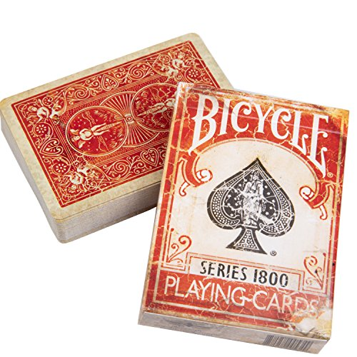 Ellusionist Bicycle 1800 Vintage Playing Cards Red