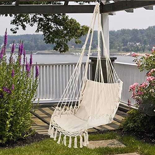 Lixada Camping Hammock Safety Hanging Hammock Chair Swing Rope Outdoor Indoor Hanging Chair Garden
