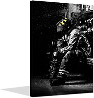 firefighter canvas art