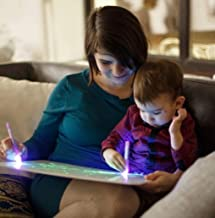 RealLabel Pizarra Magica con Luz Real de Infantil para Dibuja - En el Kit Incluye A3Tablero mas Boligrafo de Luz mas Plantillas
