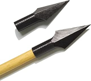 AMEYXGS 6 Piezas de Puntas de Flecha Caza Broadheads Broadheads Tradicionales para Tiro Arco Recurvo Compuesto de Deportes al Aire Libre