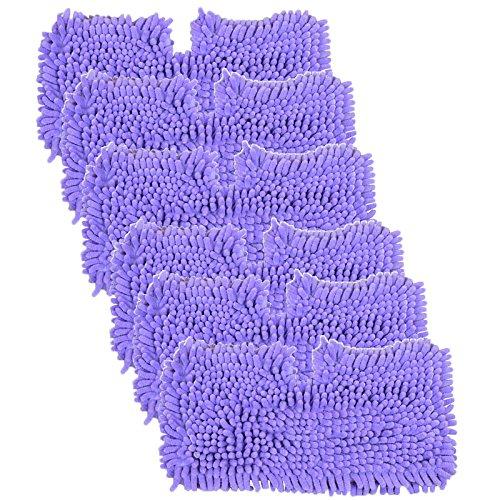 SPARES2GO Coral Cover Pocket Pads voor Shark S2901 S3455 S3501 S3502 S3601 S3701 S3901 Stoomreiniger Mop (Pak van 6, Paars)
