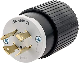 Hubbell T28423-20 Amp 480V NEMA L16-20 3 Phase Twist Lock Plug