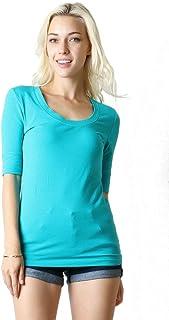 11580e2724083c Zenana Outfitters Zenana Cotton Elbow-Length Sleeve TEE