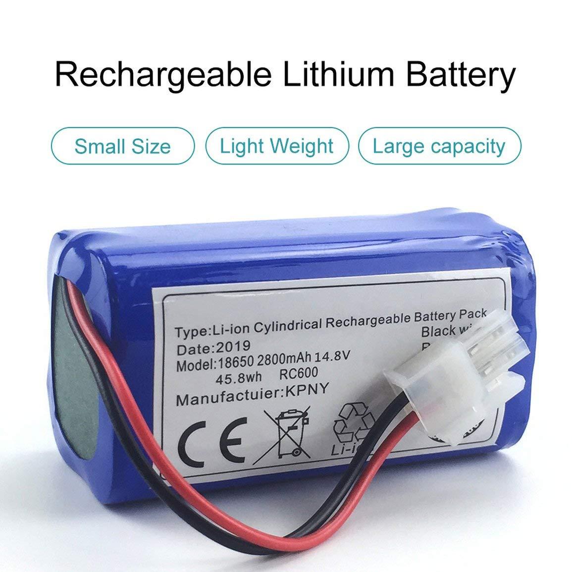 14.8 V 2800 Mah Robot Aspirador Batería de repuesto para ...