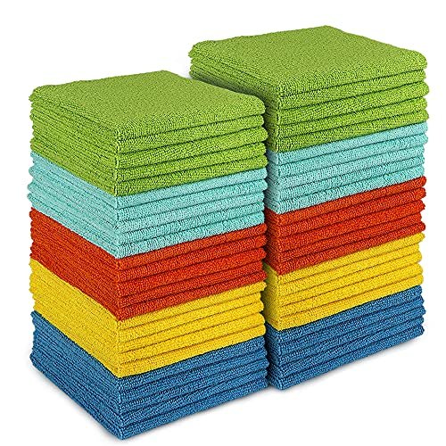 AIDEA Microfiber Cleaning Cloths-50PK, All-Purpose Softer Highly Absorbent, Lint Free - Streak Free...