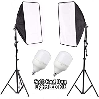 OCTOVA SL50 Professional Soft Led Video, Photography Light Softbox Kit (2) for YouTube Videos Shooting, Studio Videography, Portrait Shooting, Product Photography, Studio Lights for Photography