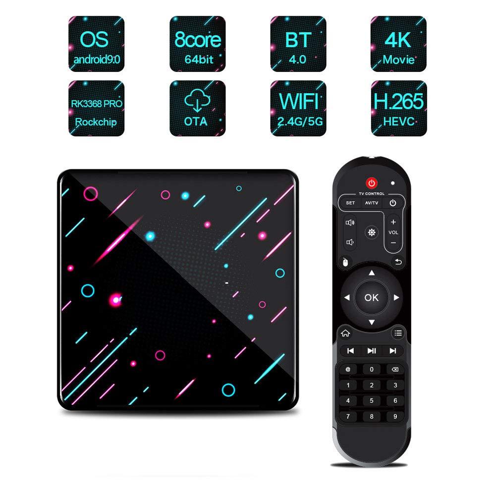 LTLZCY Android 9.0 TV Box [4GB RAM+64GB ROM] Android TV Box RK3368 Octa-Core 64Bit Cortexa53 Soporte 2K*4K, WiFi 2.4G/5G,BT 4.0, USB 3.0 Smart TV Box,4g+32g,UKPlug: Amazon.es: Hogar
