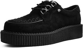 T.U.K Simili-Su/ède Noir F/éminines D/'entrelacement Casbah Anarchique Creeper De Shoes