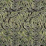 Baumwollstoff Stretch Zebramuster – khaki — Meterware