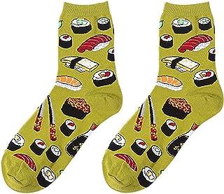 cute100%, Calcetines de Pareja de la Serie de Alimentos Ilustración Personalizada Calcetines de Algodón de Pareja Salvaje Creativa