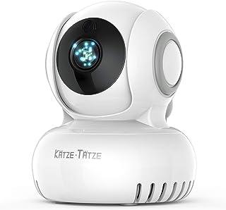 Katze-Tatze ネットワークカメラ ベビーモニター ドーム型 防犯カメラ 遠隔操作 双方向音声通信 暗視機能付き 720P高画質 首振り式 介護 赤ちゃん 出産祝い 留守番 見守りカメラ iOS/Android 日本語説明書付き 一年間保証