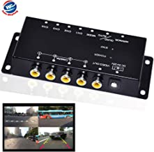Auto Wayfeng WF IR Control 4 Cameras Video Control Car Cameras Image Switch Combiner Box for Left View Right View Front Rear Parking Camera Box