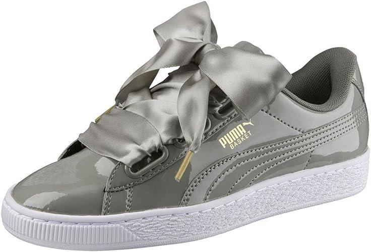 PUMA Basket Heart Patent, Sneakers Basses Femme : Amazon.fr ...