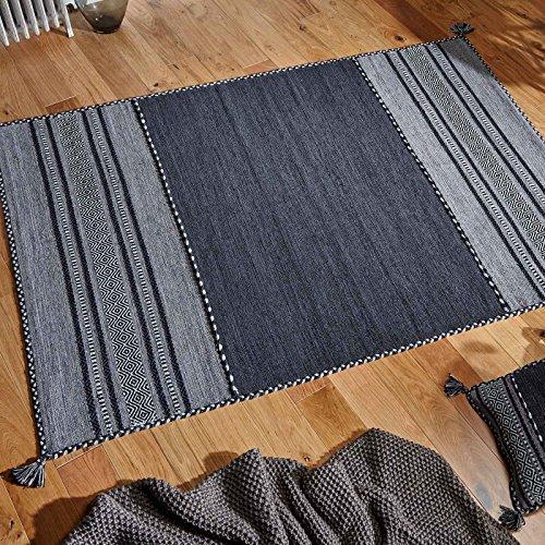 Orientalischer Weavers Teppich, 70 x 140 cm, Grau