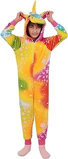 Kids Girls Unicorn Rainbow A2Z Onesie One Piece Soft Stars Print Xmas Costume