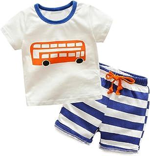 LittleSpring夏 子供服 tシャツ ショートパンツ カジュアル セット 男の子 半袖 トップス パンツ スウェット 上下セット 夏服 白 110