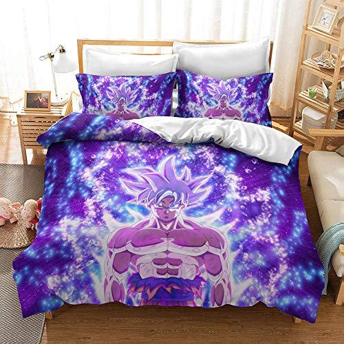 Lvvsovs Bedding sets 3D Duvet Cover Set individual 135 x 200 cm Quilt Covers Pillowcase King Queen Size Bedclothes For Home Decor + 2 Pillowcase 50 X 75 cm Cartoon anime character
