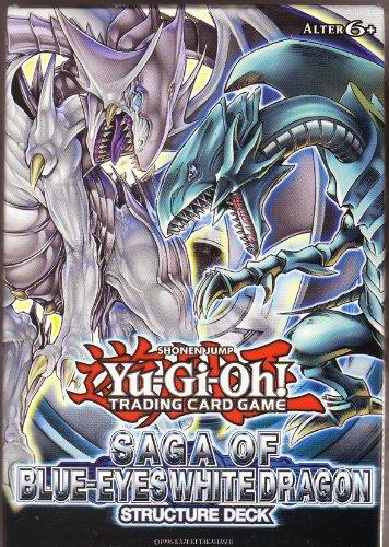 Yu-Gi-Oh! Structure Deck SAGA OF BLUE-EYES WHITE DRAGON (Deutsch) : Inhalt 37 Common Karten, 1 Ultra Rare Karte , 2 Super rare Karten, 1 Regelheft, 1Delux Spielunterlage und 1 Duellführer