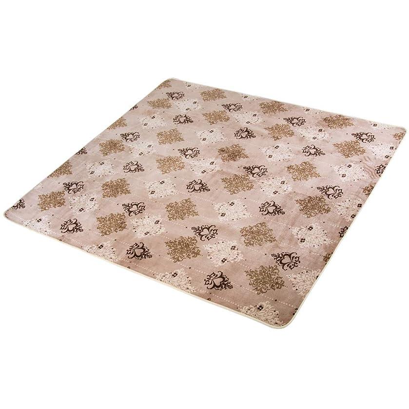 あざメタリックスノーケルOSJ カーペット 洗えるラグ 抗菌防臭 年中使える 床暖房対応 おしゃれ ベージュ 185×185