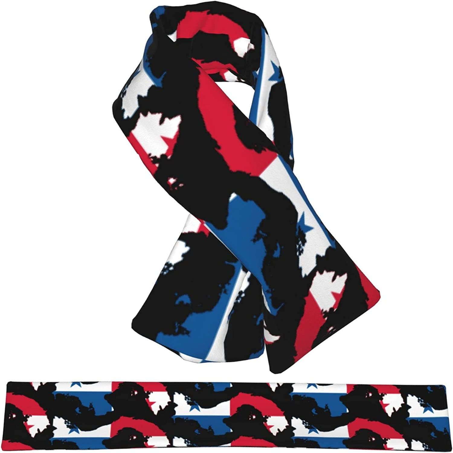 Flag Map Of Panamanian Milwaukee Mall Flannel Cross Collar Scarf We OFFer at cheap prices Shawl Wrap Nec