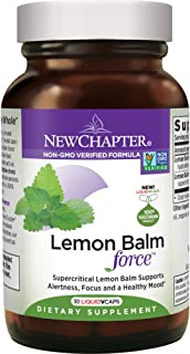 New Chapter Mood Support Supplement - Lemon Balm for Mood Support + Sleep Aid + Stress Relief + Non-GMO Ingredients - 30 c...