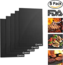 Cheffco #1 Best Grill Mat – Set Of 5, Heavy Duty, Non-Stick, Reusable, Grill Accessories Easy To Clean BBQ Grill Mat, Gas, Charcoal, Electric Grill Dishwasher Safe, FDA Approved, (5)
